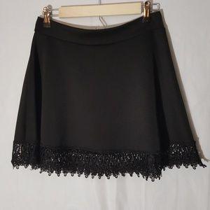 Solemio Black Mini Skirt Size Large
